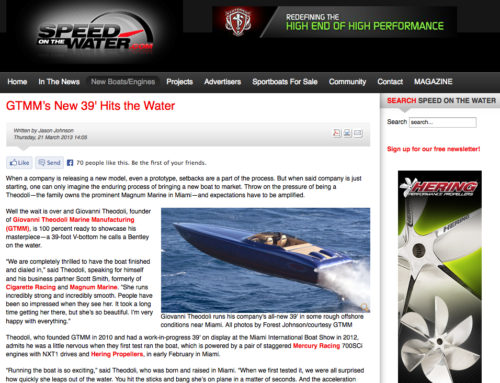 GTMM's New 39′ Hits the Water