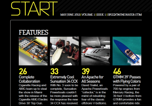 GTMM Featured In Speed On The Water Premier Issue